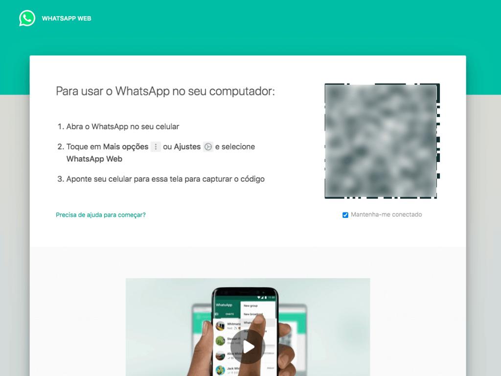 imagem da tela de como usar o whatsapp web