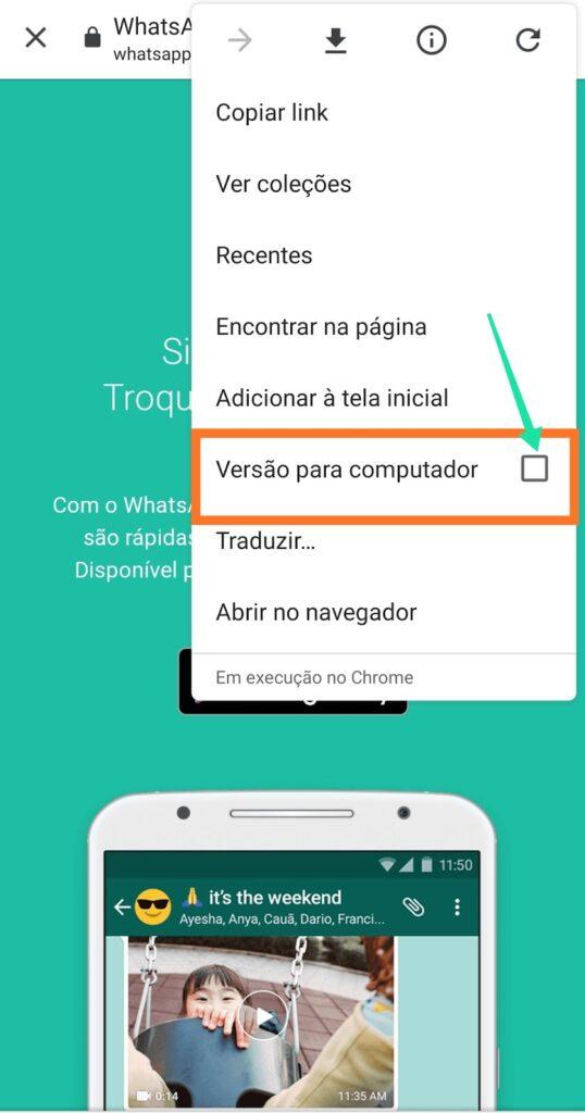 seleção versao para computador como usar o whatsapp web
