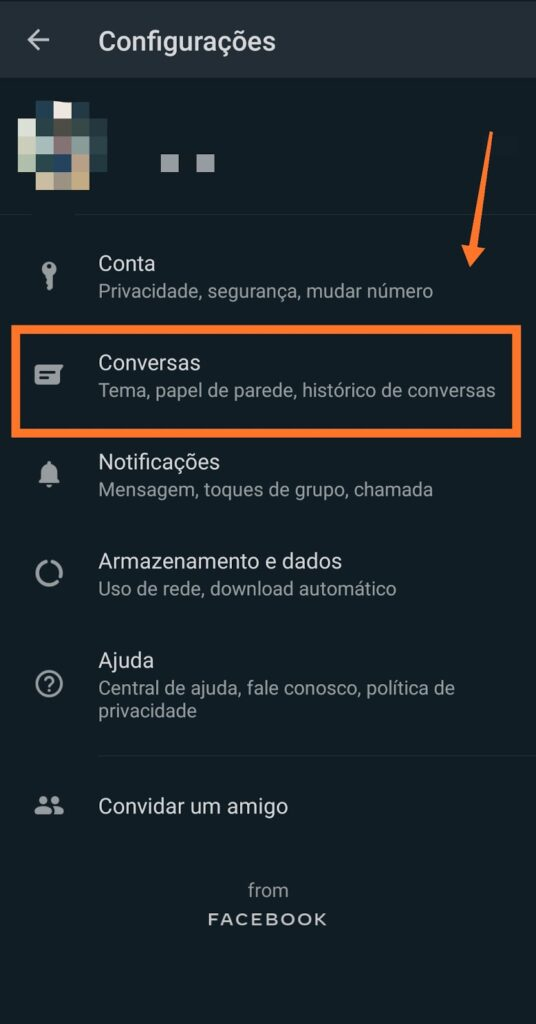 imagem como fazer backup whatsapp google drive